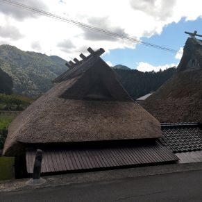 Casas con techo de paja.