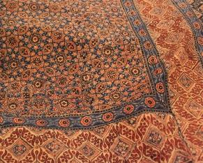 Bedspread with a khorak (date) pattern / sahapedia.org